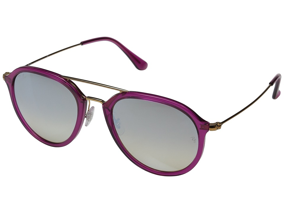 Ray-Ban - 0RB4253 53mm (Fuchsia/Grey Flash Gradient) Fashion Sunglasses