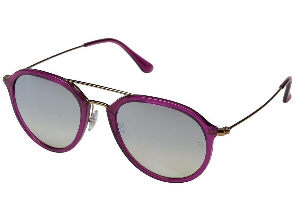 Ray-Ban - 0RB4253 53mm (Fuchsia/Grey Flash Gradient) Fashion Sunglasses