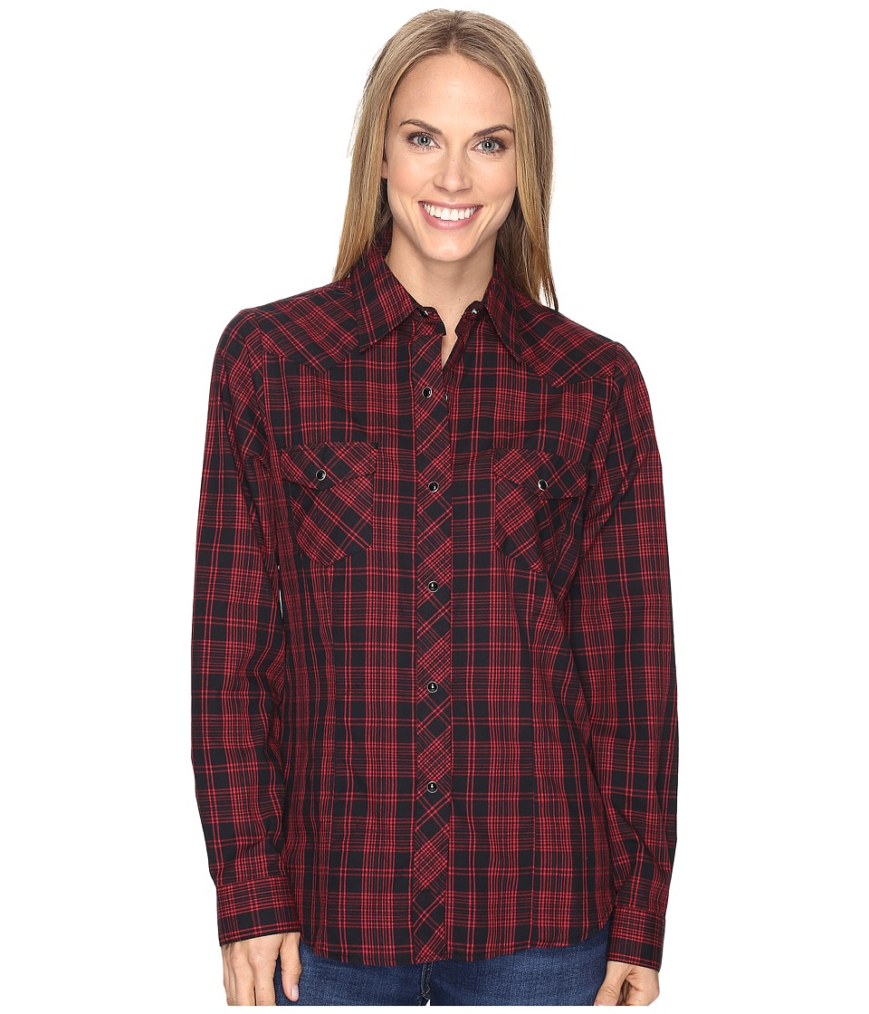 Roper - 0693 Black Red Plaid (Red) Women's Clothing