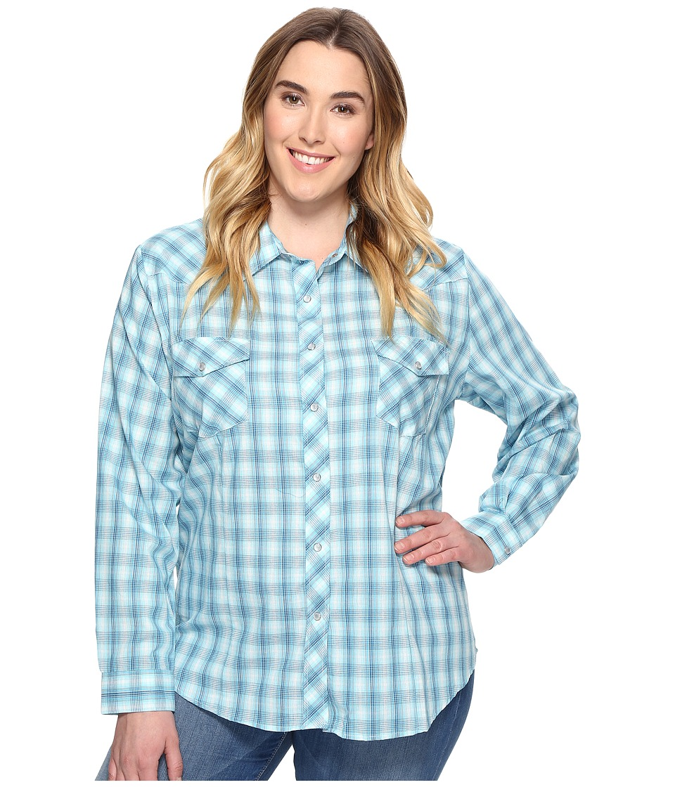 Roper - Plus Size 0681 Turquoise and Aqua Plaid (Blue) Women's Clothing