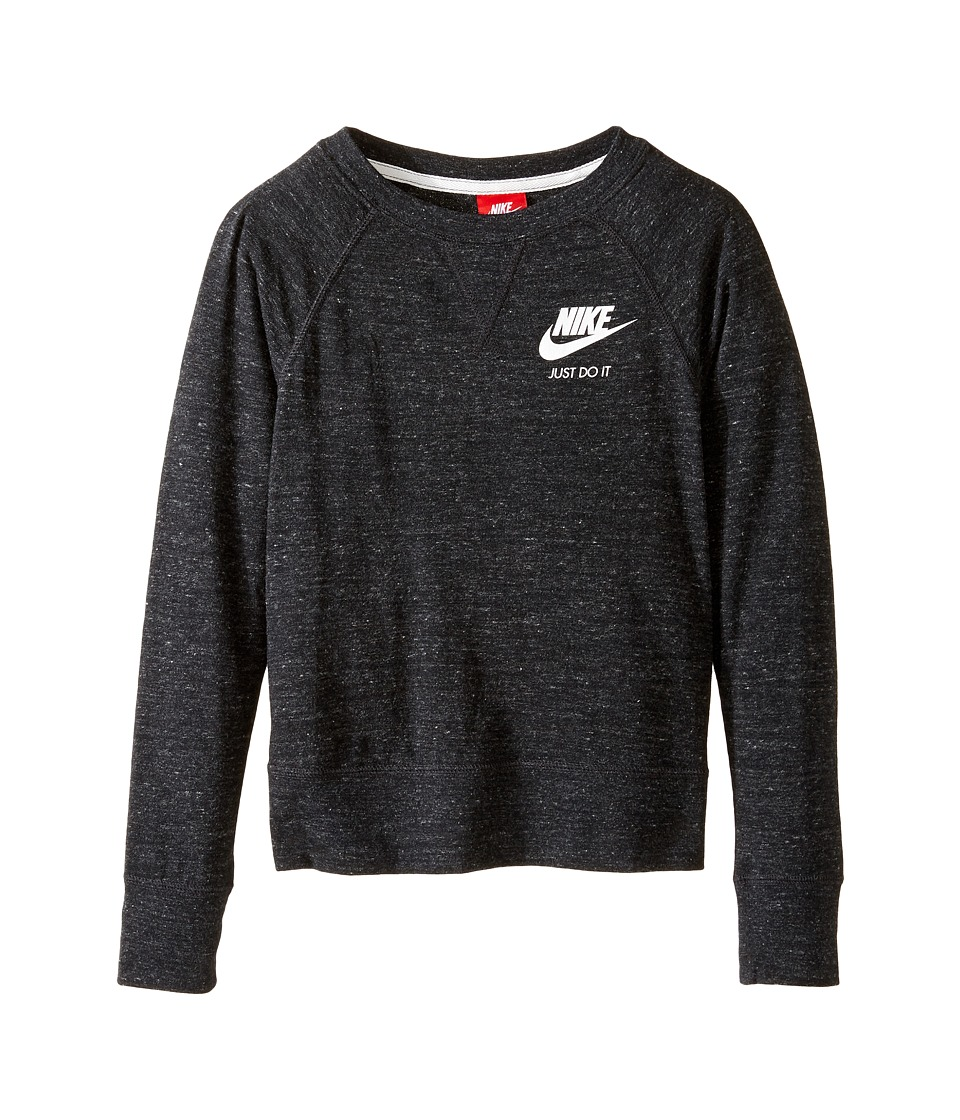 Nike Kids - Gym Vintage Crew (Little Kids/Big Kids) (Black/Sail) Girl's Clothing