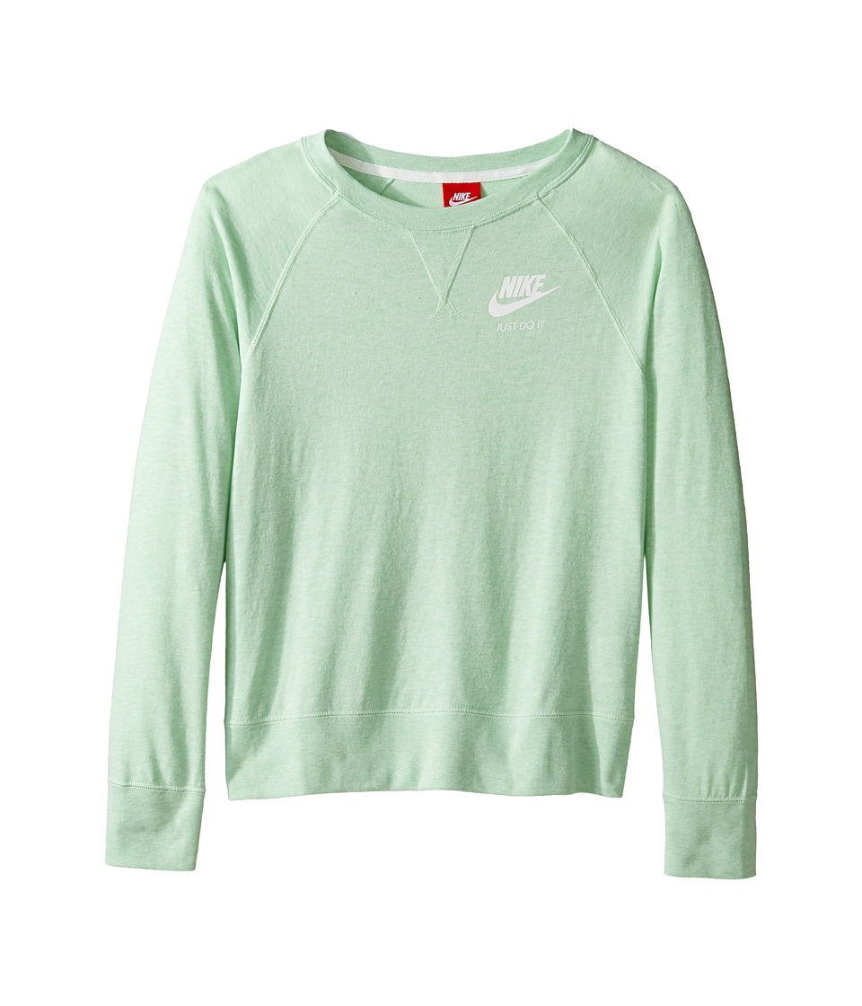 Nike Kids - Gym Vintage Crew (Little Kids/Big Kids) (Fresh Mint/Sail/Sail) Girl's Clothing