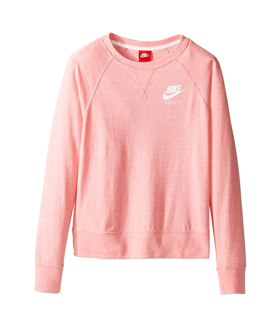 Nike Kids - Gym Vintage Crew (Little Kids/Big Kids) (Bright Melon/Sail/Sail) Girl's Clothing