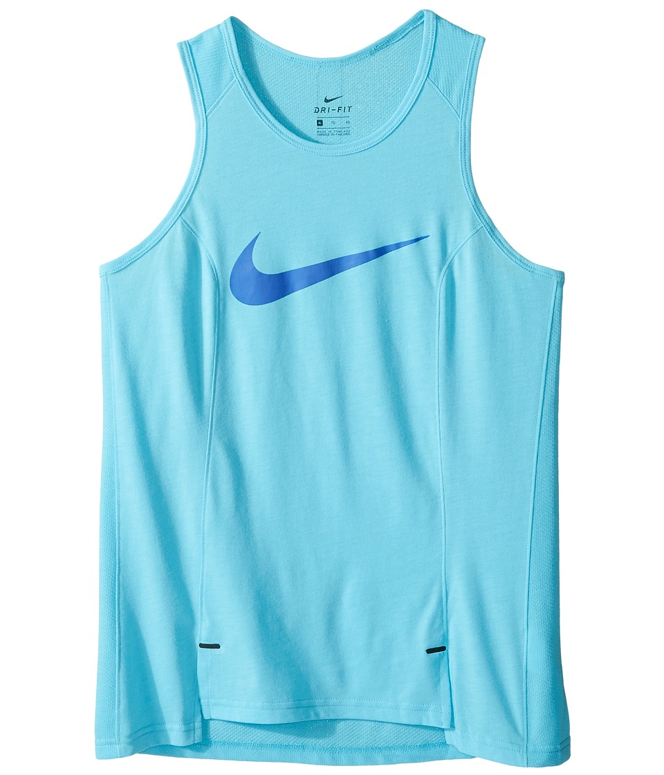 Nike Kids - Dry Basketball Tank (Little Kids/Big Kids) (Vivid Sky/Comet Blue) Girl's Sleeveless