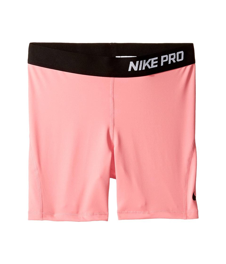 Nike Kids - Pro Cool 4 Training Short (Little Kid/Big Kid) (Bright Melon/Black/Black) Girl's Shorts