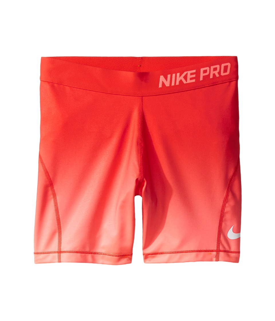 Nike Kids - Pro 4 Training Short (Little Kids/Big Kids) (Max Orange/Lava Glow/White) Girl's Shorts