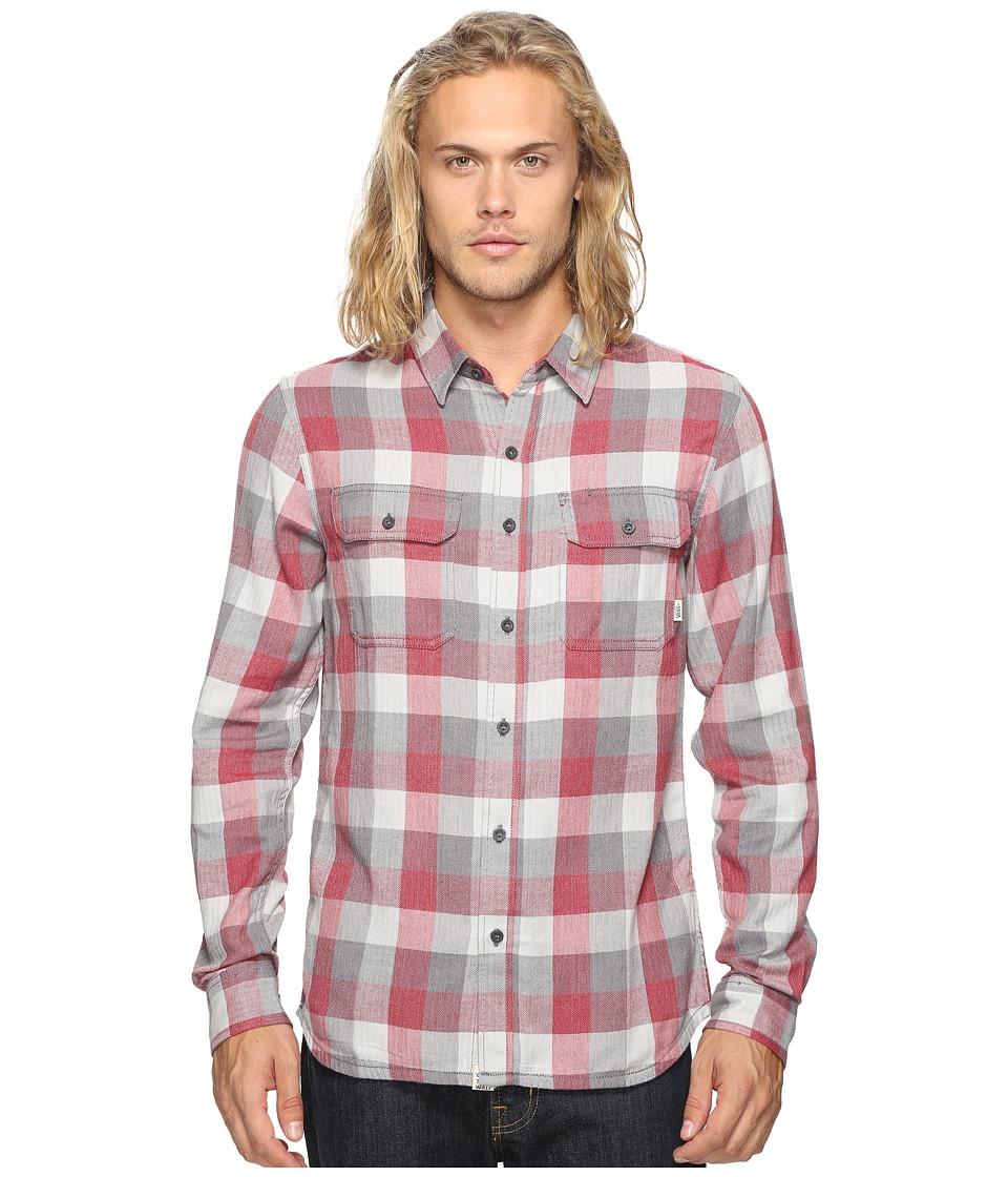 Vans - Alameda Woven (Red Dahlia/Gravel) Men's Clothing