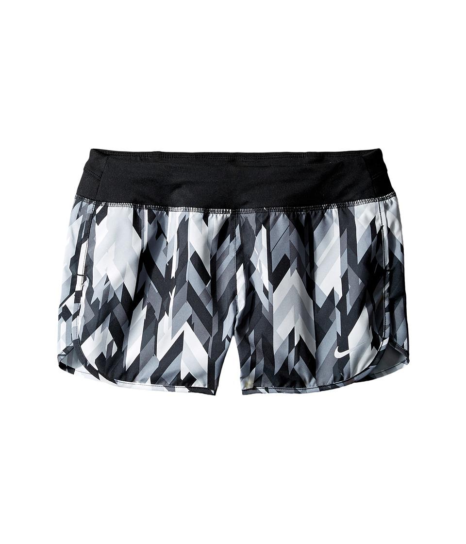 Nike Kids - Dry 3 Print Running Short (Little Kids/Big Kids) (Black/Black/Black) Girl's Shorts