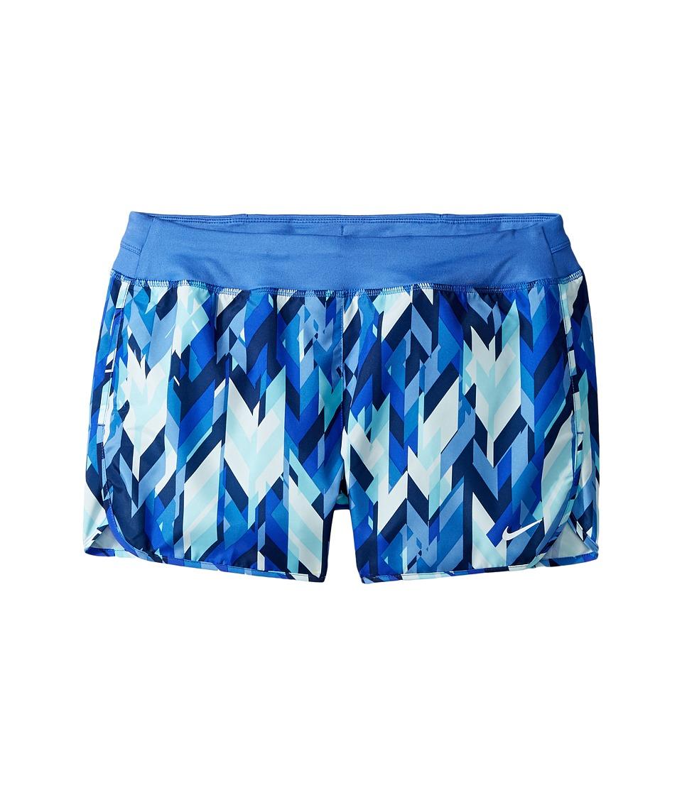 Nike Kids - Dry 3 Print Running Short (Little Kids/Big Kids) (Vivid Sky/Comet Blue/Comet Blue) Girl's Shorts
