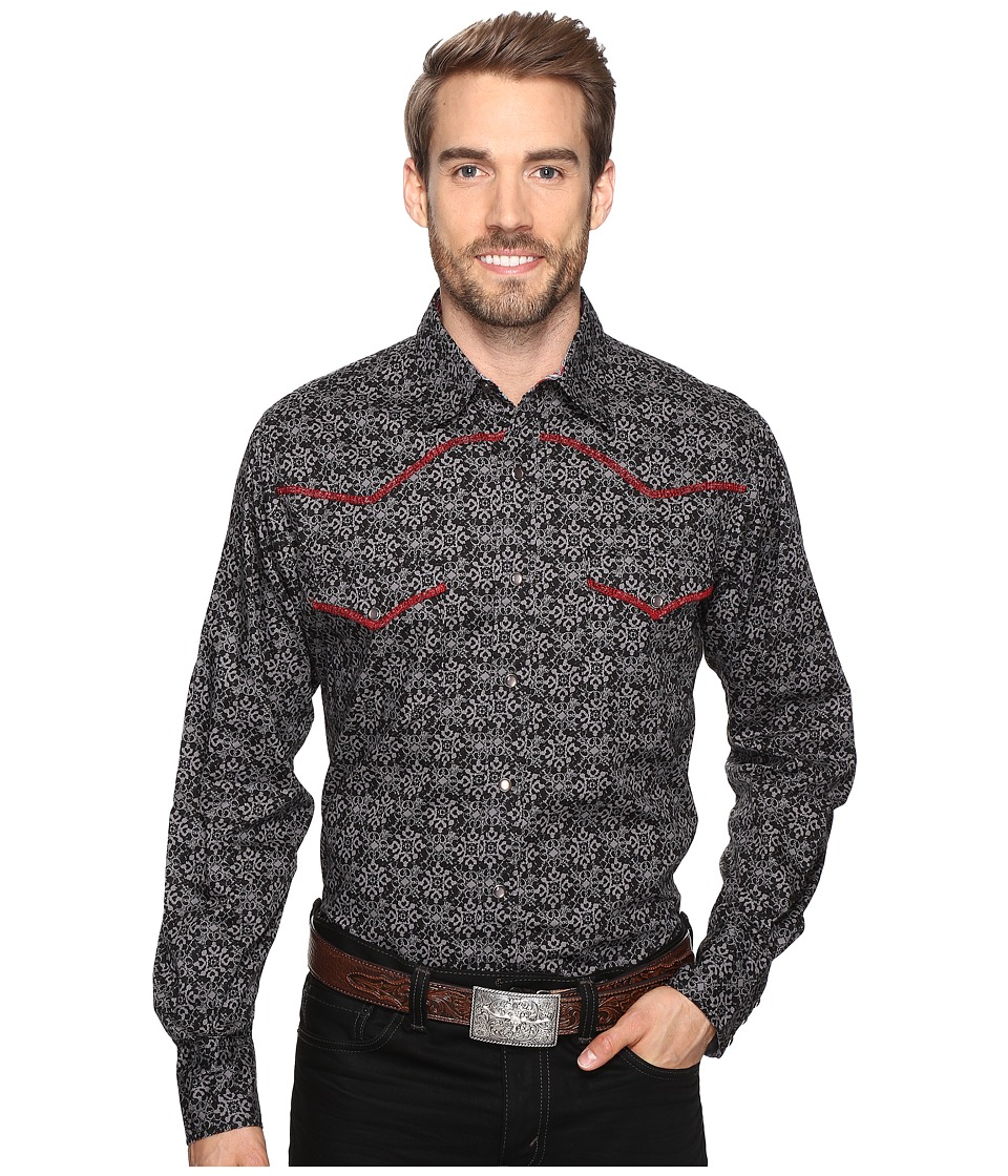 Roper - 0630 Regal Print (Black) Men's Clothing