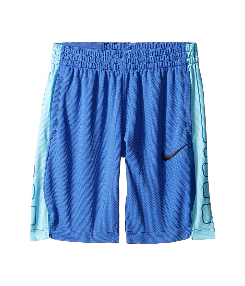 Nike Kids - Elite Basketball Short (Little Kids/Big Kids) (Comet Blue/Vivid Sky/Black) Girl's Shorts