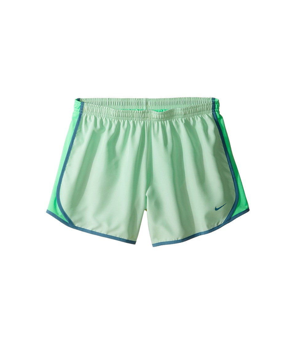 Nike Kids - Dry Tempo Running Short (Little Kids/Big Kids) (Fresh Mint/Electro Green/Smokey Blue) Girl's Shorts