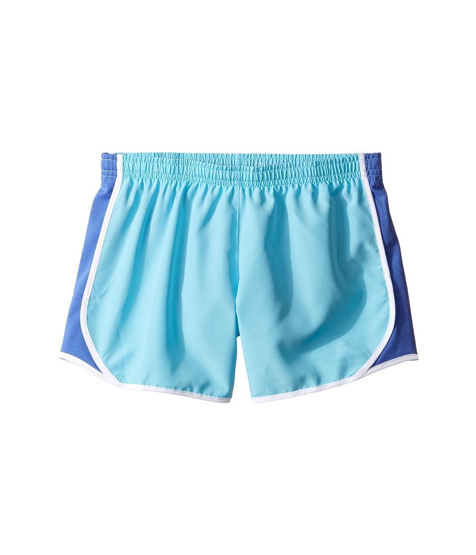 Nike Kids - Dry Tempo Running Short (Little Kids/Big Kids) (Vivid Sky/Comet Blue/White/Vivid Sky) Girl's Shorts