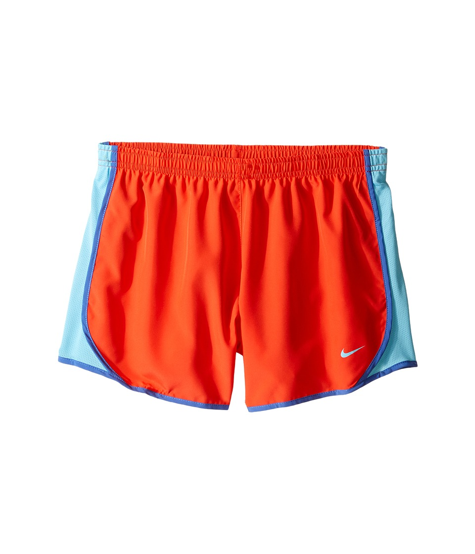 Nike Kids - Dry Tempo Running Short (Little Kids/Big Kids) (Max Orange/Vivid Sky/Vivid Sky) Girl's Shorts