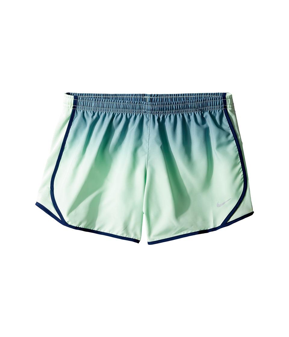Nike Kids - Dry Tempo Gradient Running Short (Little Kids/Big Kids) (Squadron Blue/Fresh Mint/Binary Blue) Girl's Shorts