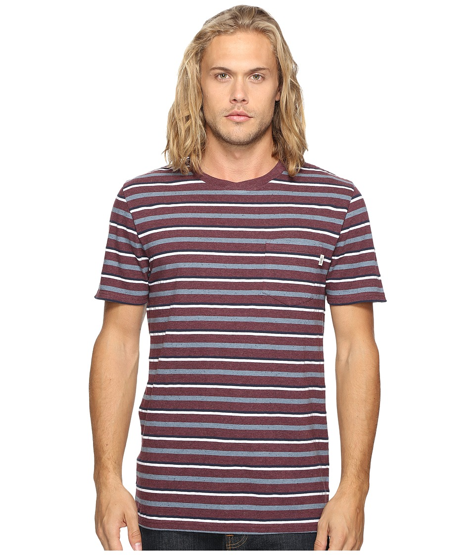Vans - Redding Short Sleeve Knit (Port Royale Heather) Men's Clothing