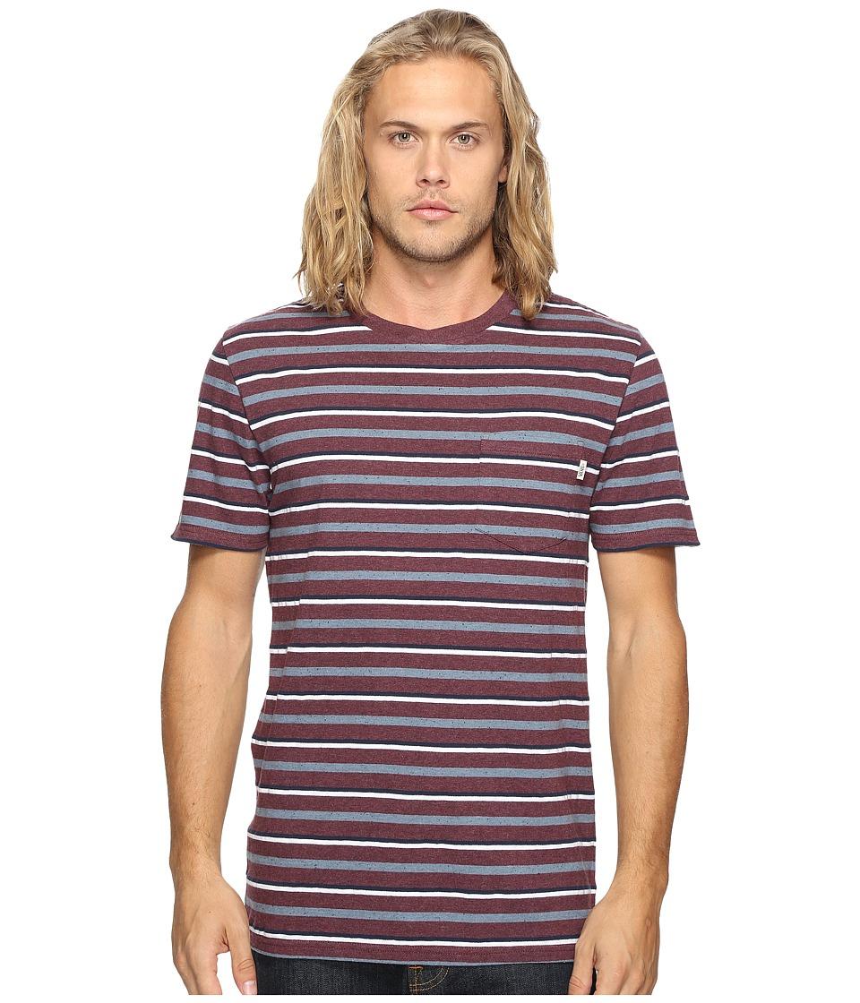 Vans - Redding Short Sleeve Knit (Port Royale Heather) Men's Clothing