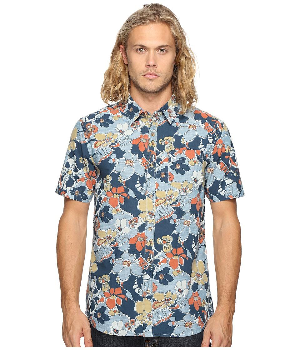 Vans - Whitlowe Floral Short Sleeve Woven (Acid Floral) Men's Clothing