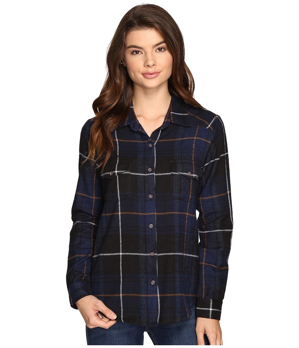 RVCA - Jig 5 Top (Ink) Women's Long Sleeve Button Up