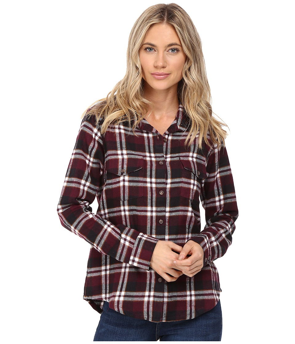 RVCA - Jig 5 Top (Wine) Women's Long Sleeve Button Up