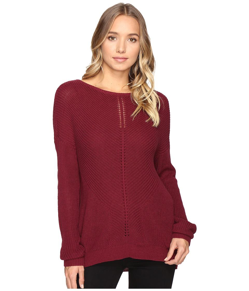 RVCA - Thriller Pullover Crew Neck Sweater (Scarlet) Women's Sweater