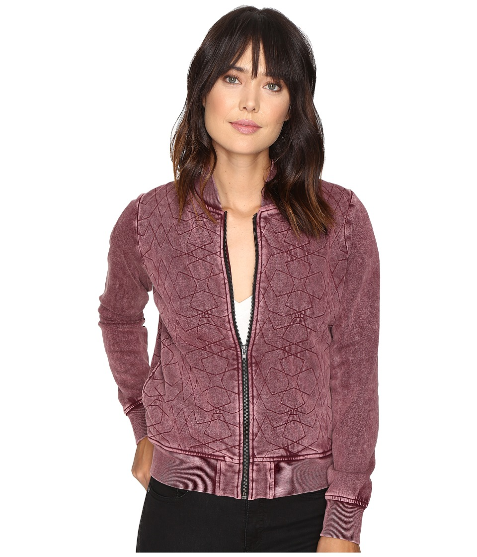 RVCA - Bloom Bomber Jacket (Wine) Women's Coat