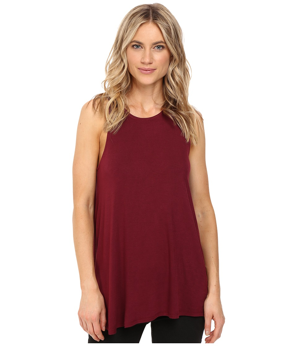 RVCA - Label High Neck Tunic Tank Top (Scarlet) Women's Sleeveless