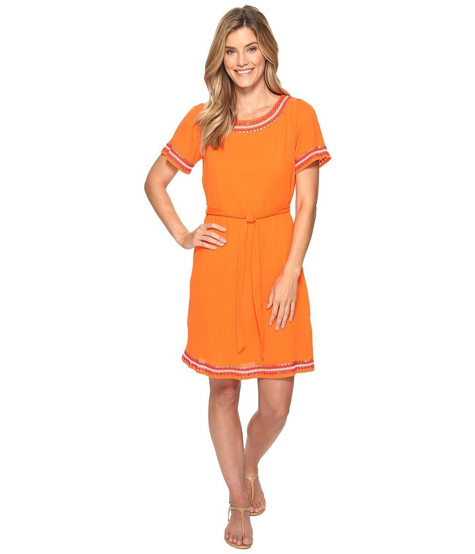 Tommy Bahama Embellished Gauze Short Dress (Citrus Punch) Women