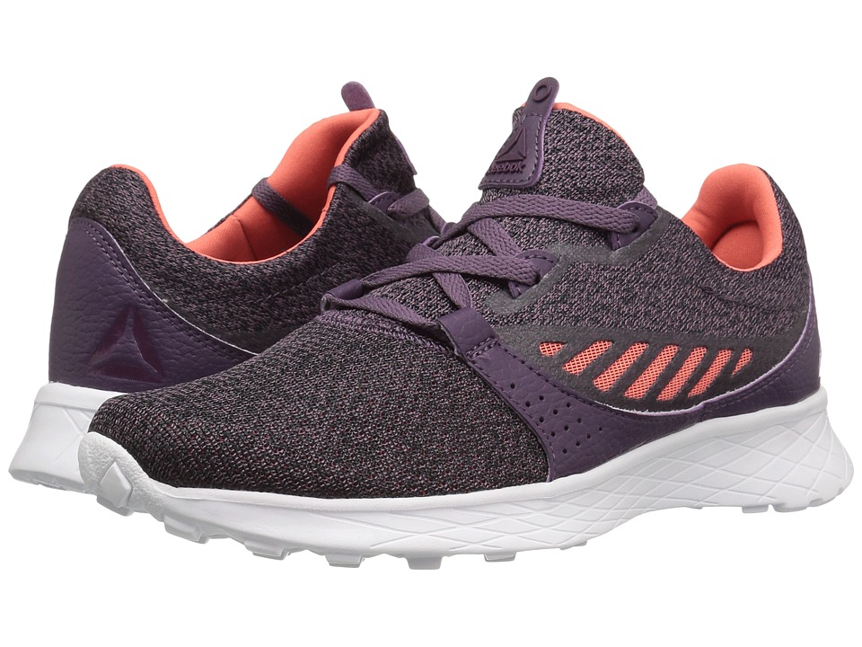 Reebok Elle HTHR (KVS/Meteorite/Black/Fire Coral/Pacific Purple/White) Women