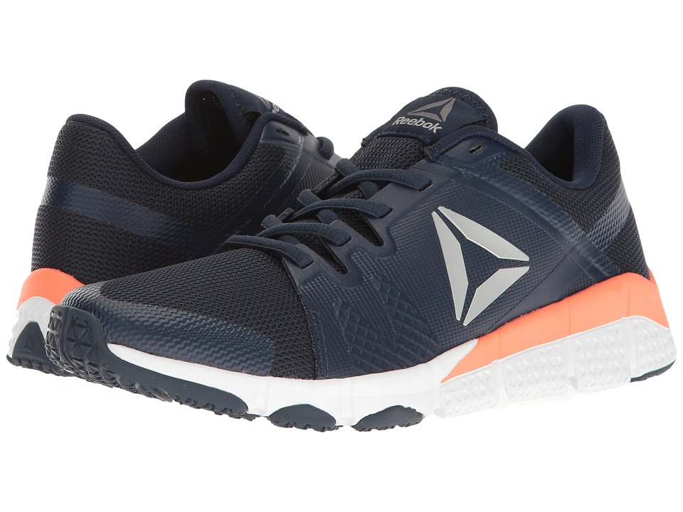 Reebok - Trainflex (Collegiate Navy/White/Stellar Pink/Metallic Silver/Grey) Women's Cross Training Shoes