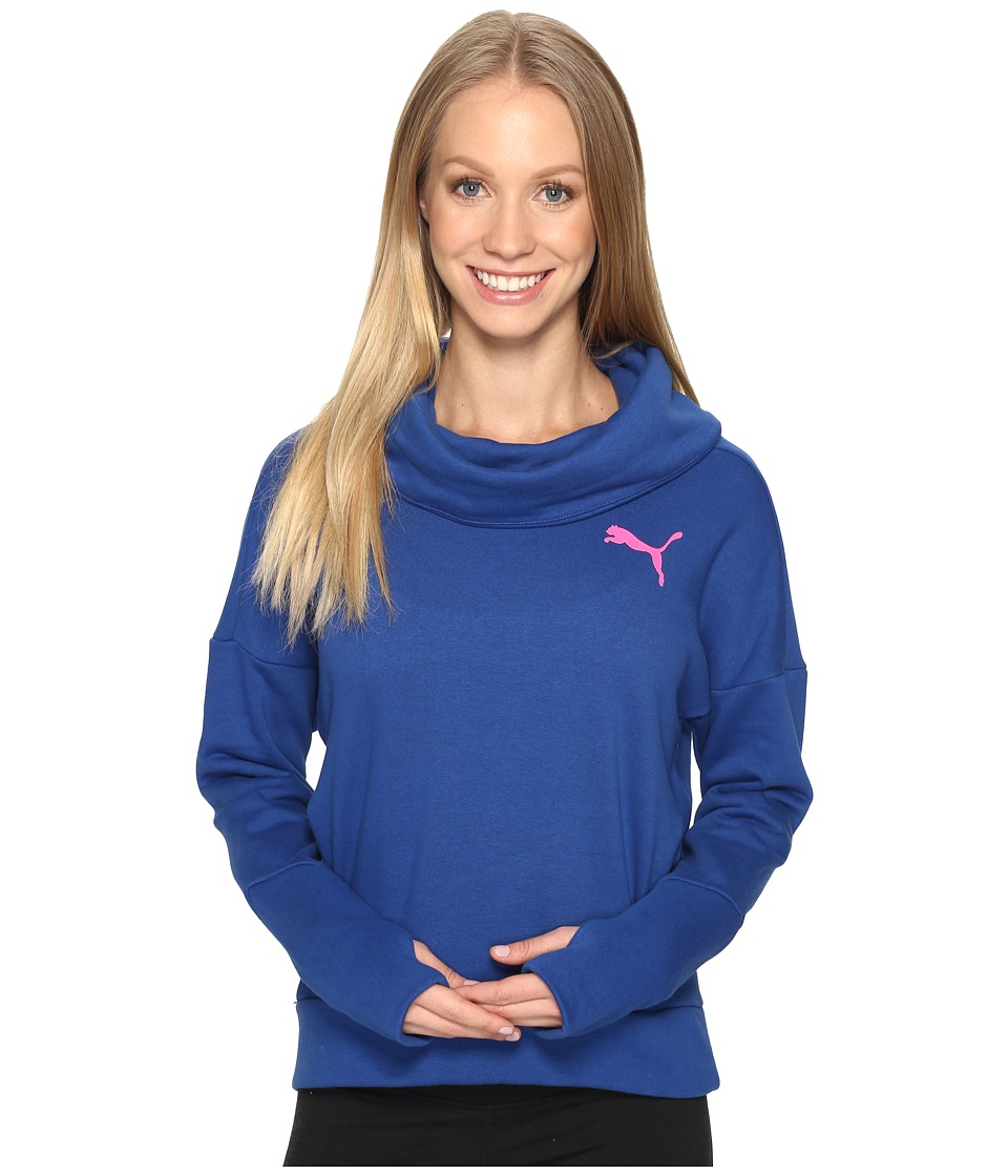 PUMA - Elevated Rollneck Sweater (True Blue) Women's Sweatshirt