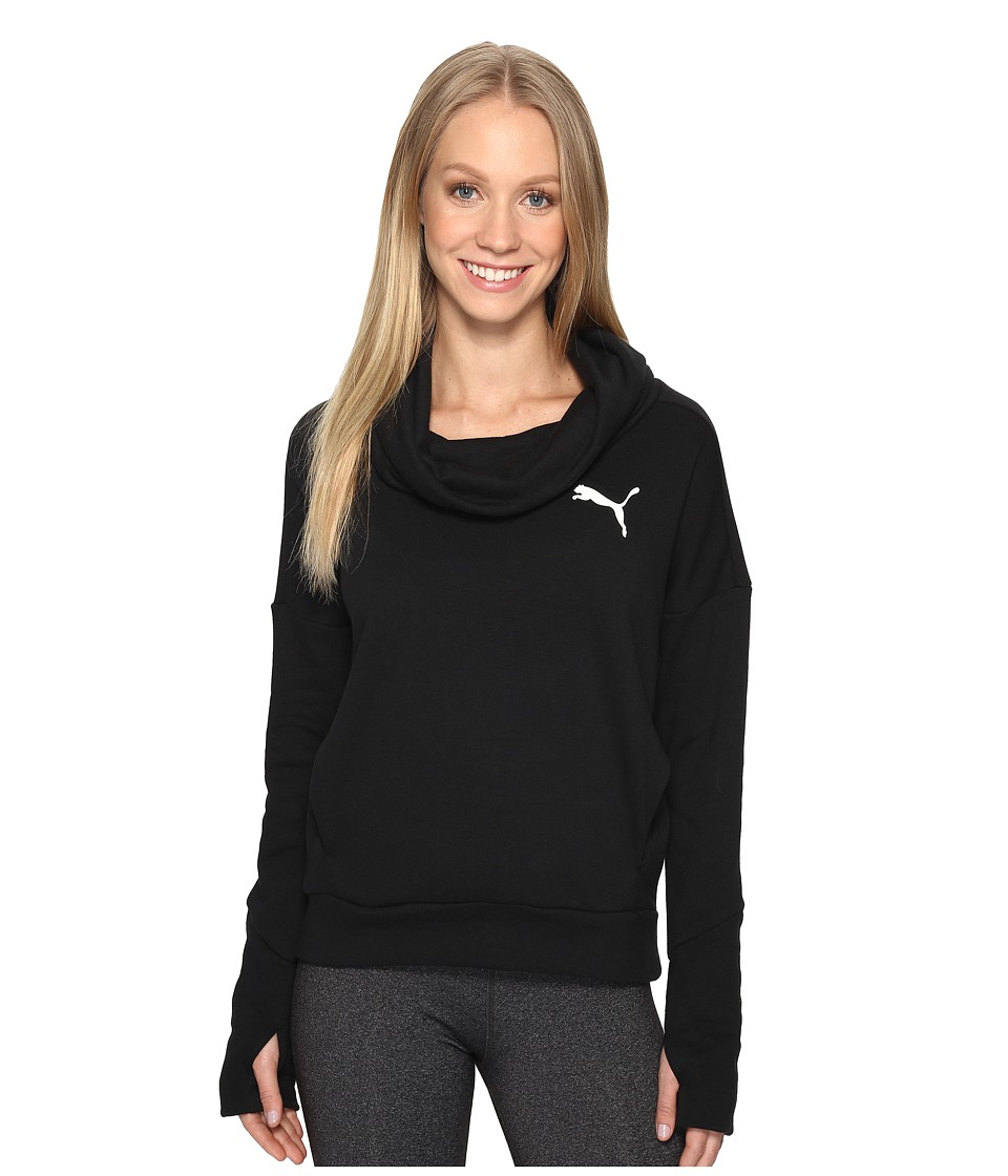 PUMA - Elevated Rollneck Sweater (Cotton Black) Women's Sweatshirt