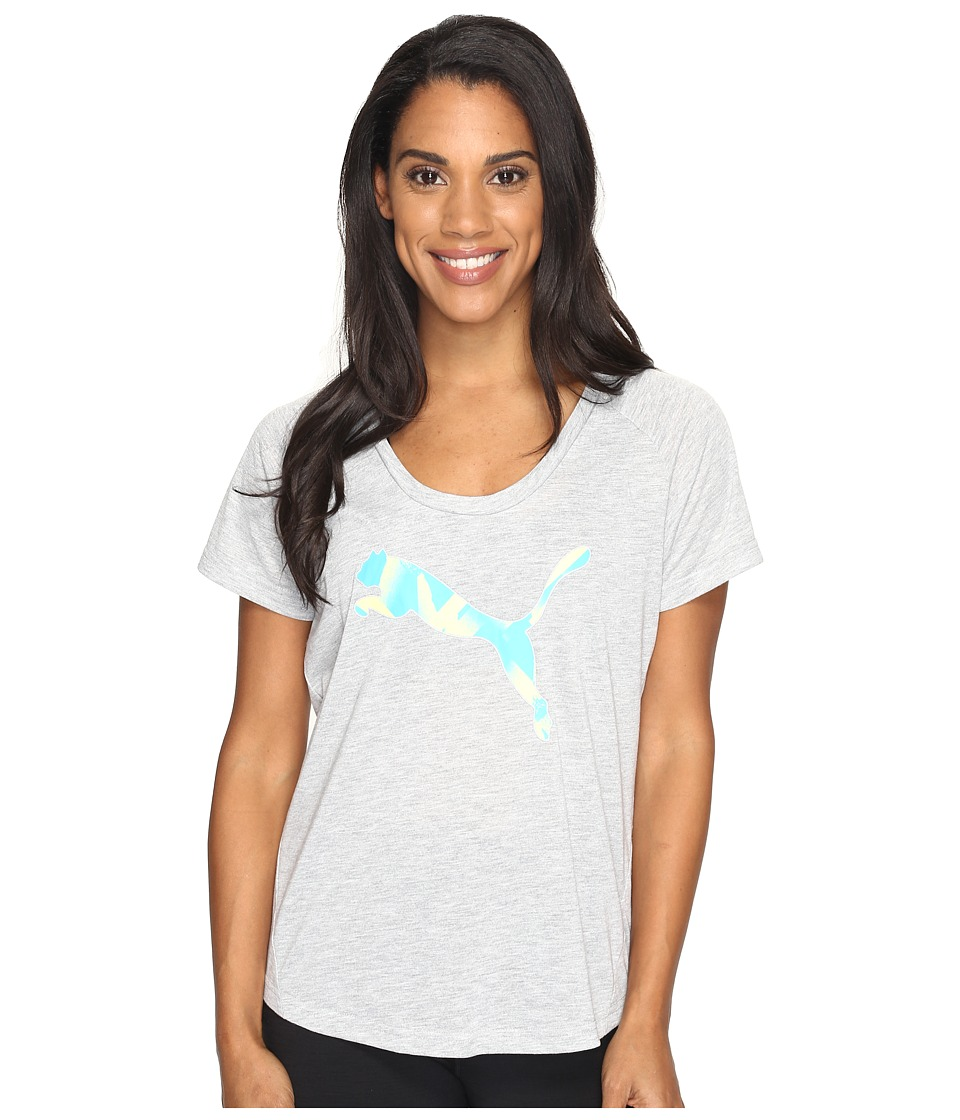 PUMA - Elevated Layer Tee (Light Gray Heather) Women's T Shirt