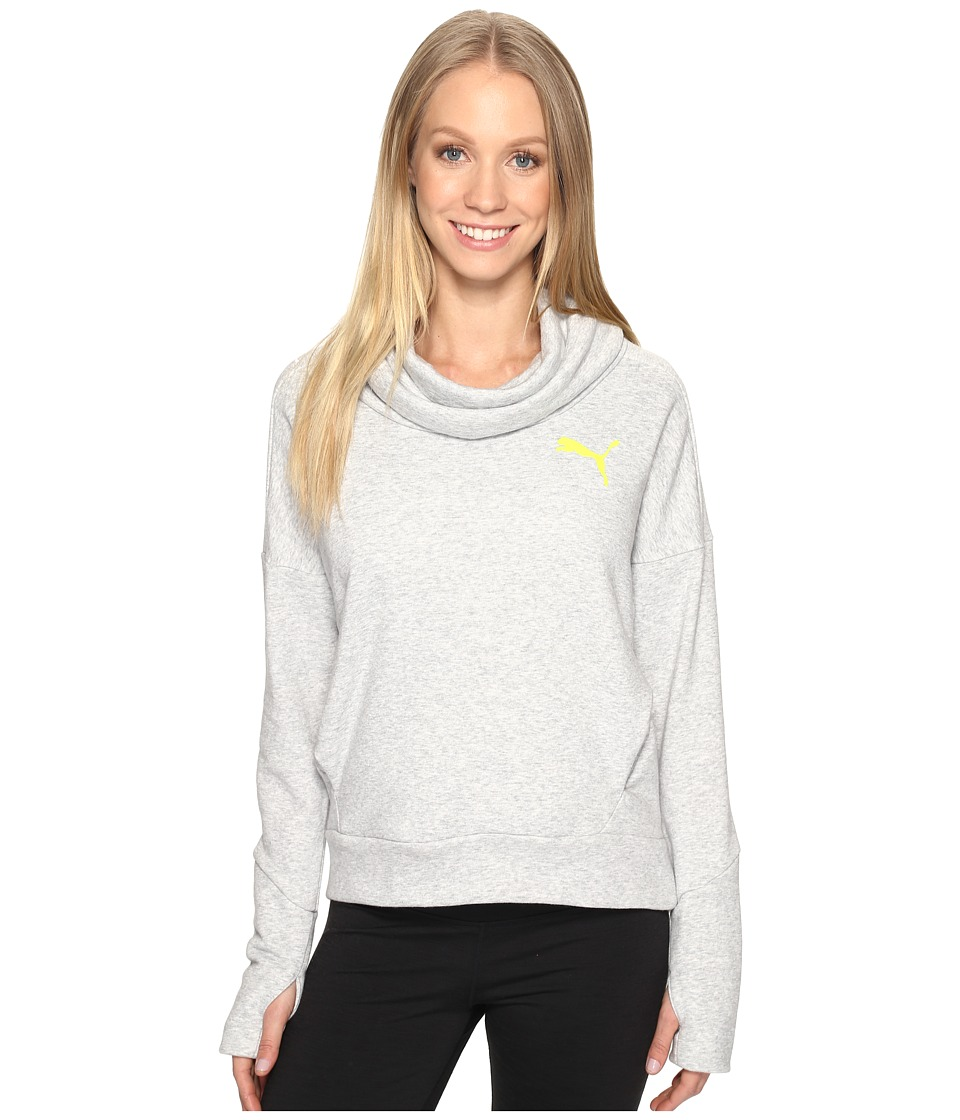 PUMA - Elevated Rollneck Sweater (Light Gray Heather) Women's Sweatshirt