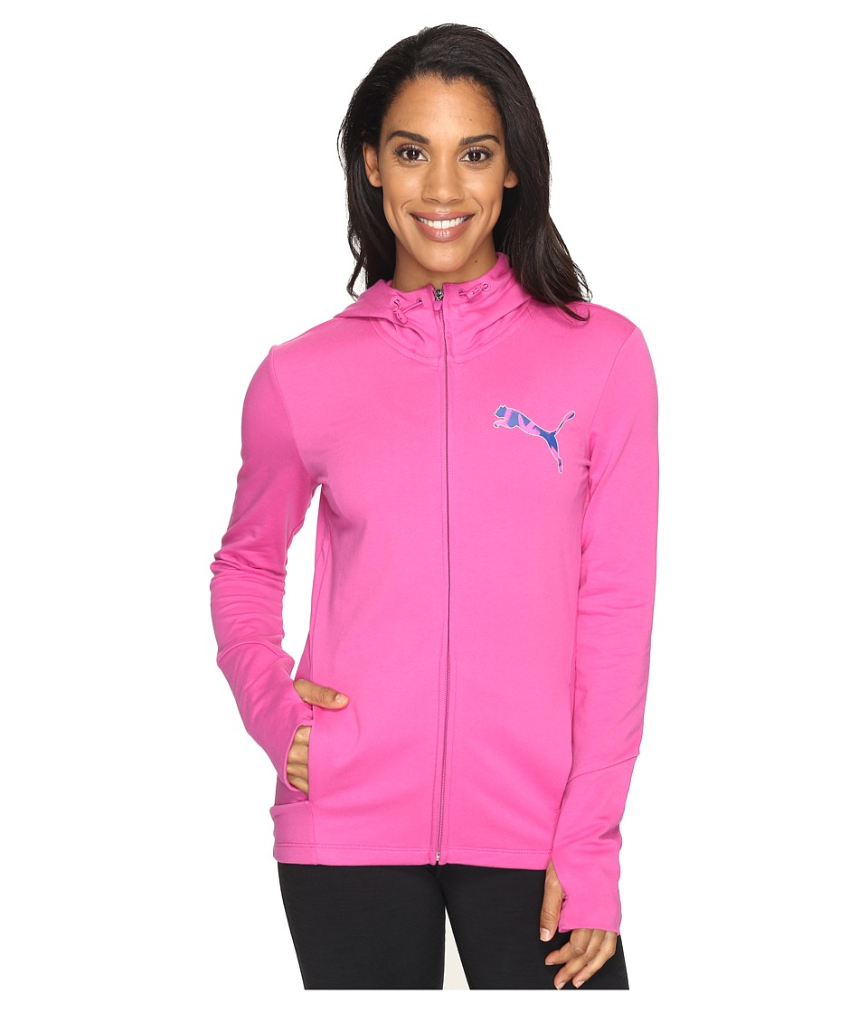 PUMA - Elevated Full Zip Hoodie (Rose Violet) Women's Sweatshirt