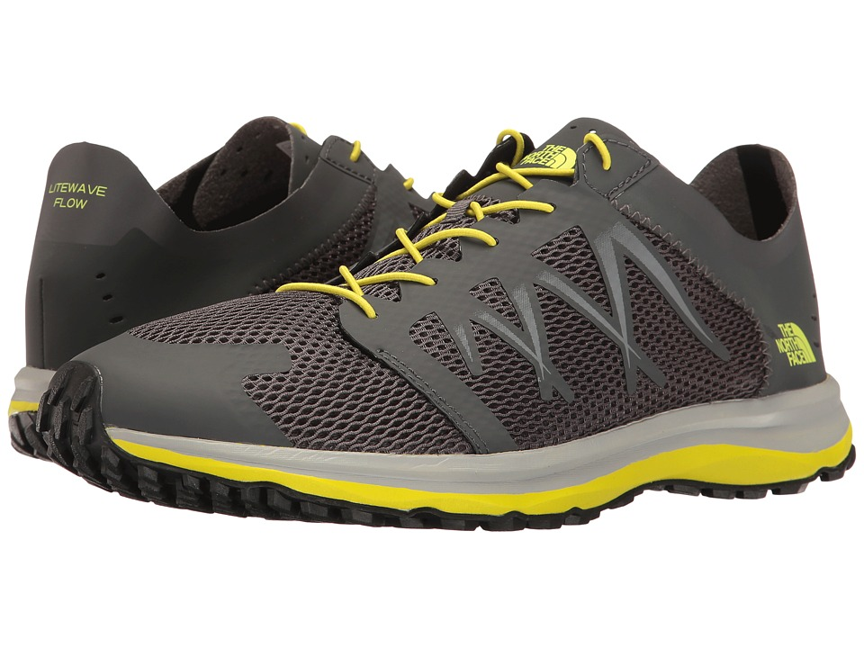 The North Face - Litewave Flow Lace (Dark Shadow Grey/Sulphur Spring Green) Men's Shoes