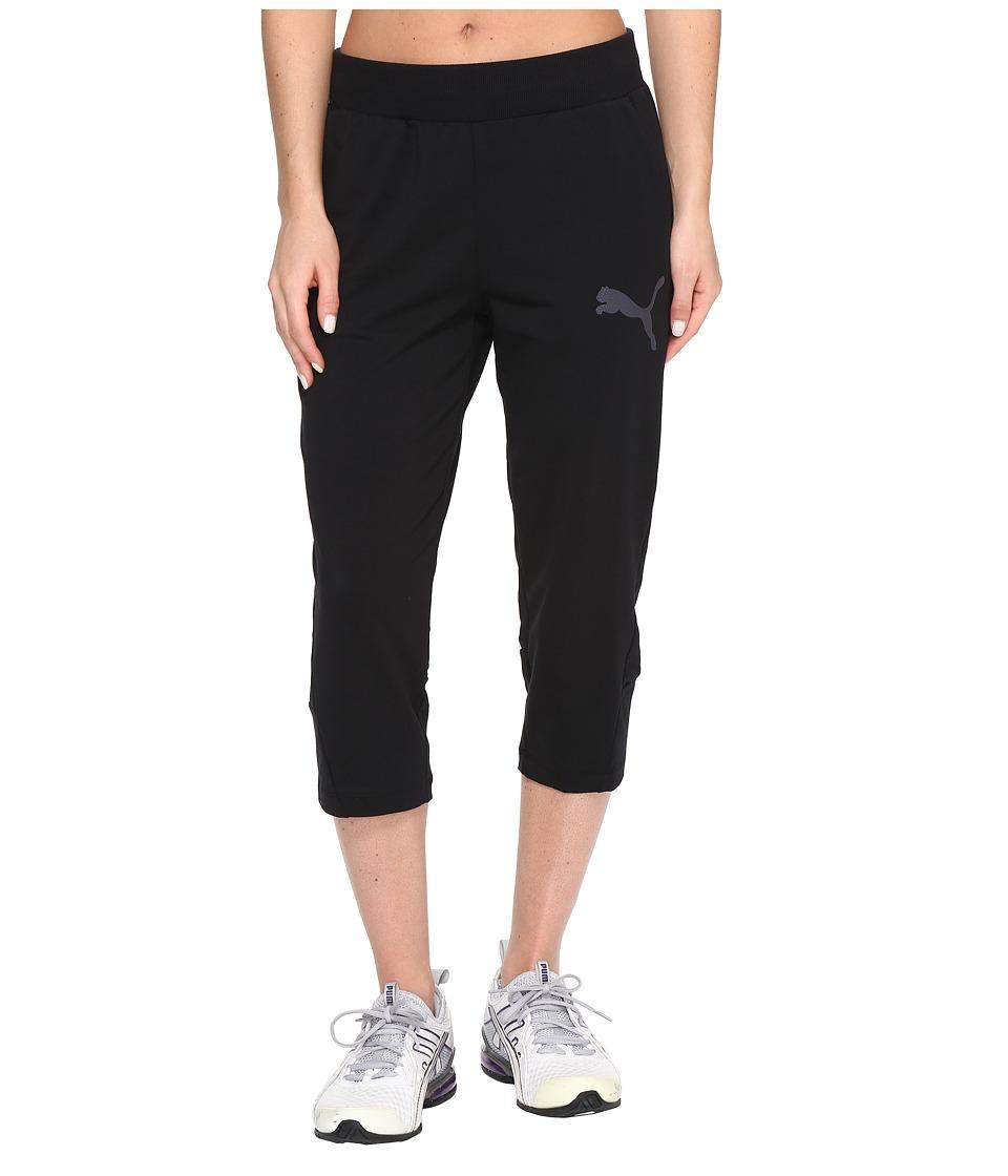 PUMA - Elevated 3/4 Sweatpants (Cotton Black) Women's Workout