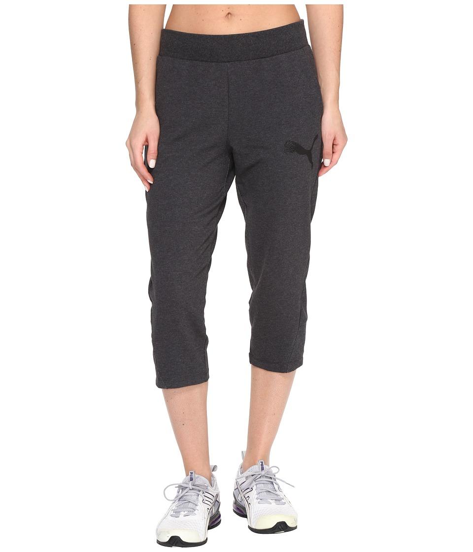 PUMA - Elevated 3/4 Sweatpants (Dark Gray Heather) Women's Workout