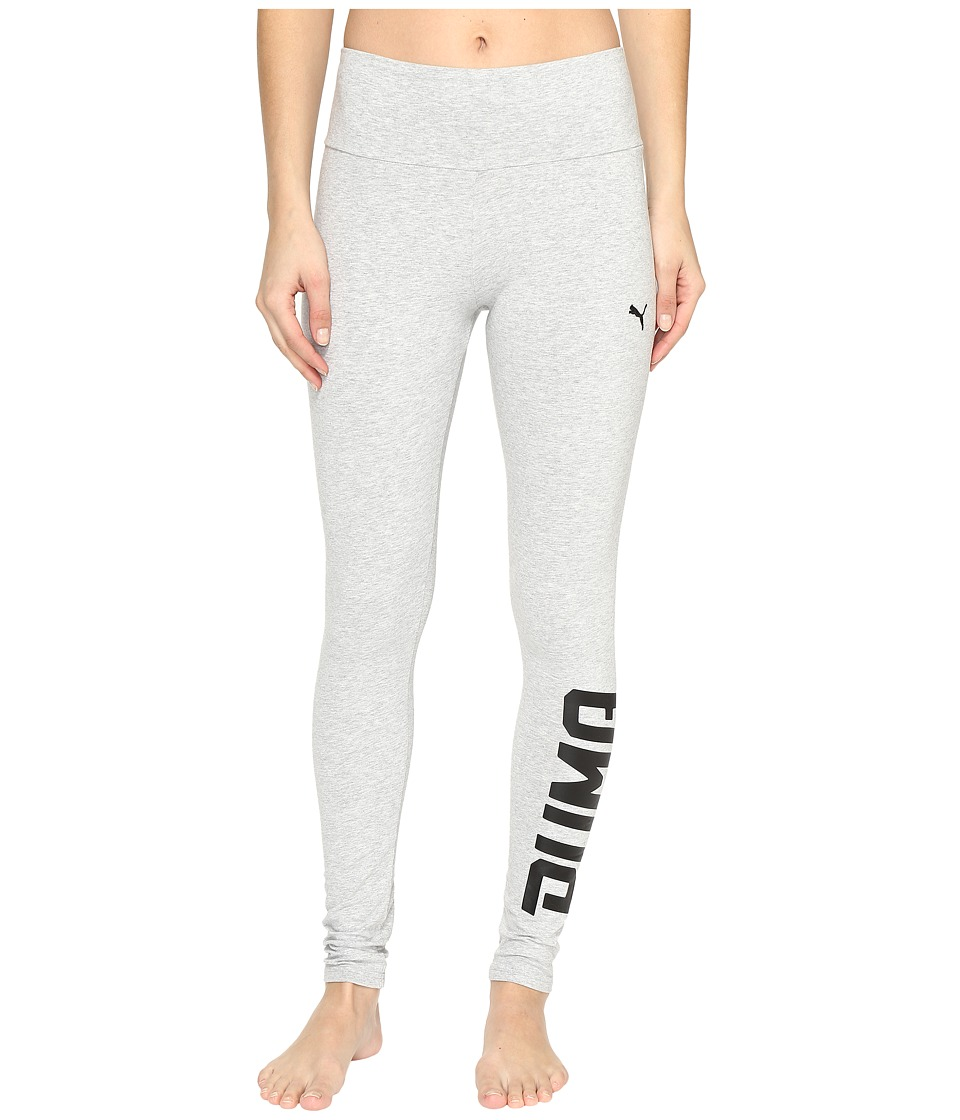 PUMA - Style Swagger Leggings (Light Gray Heather 2) Women's Workout