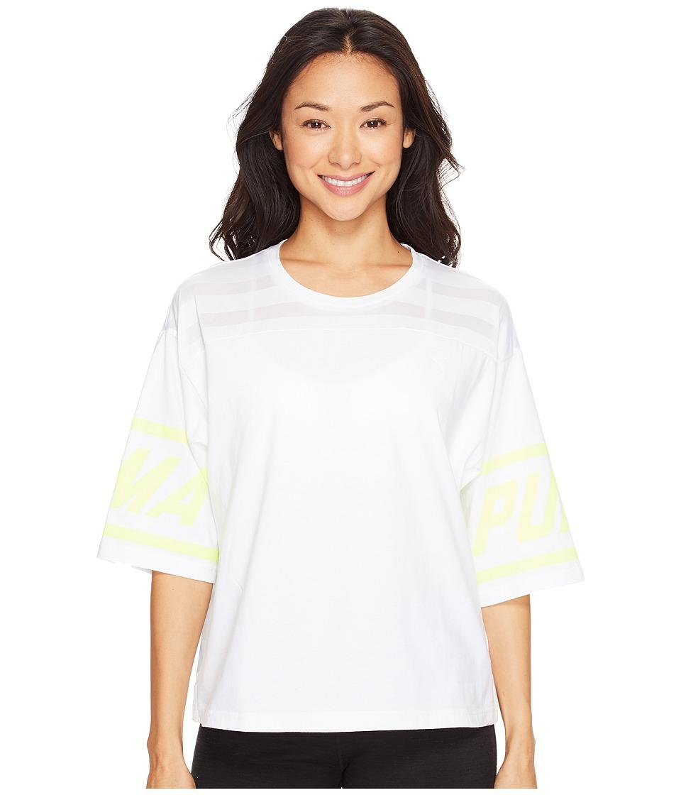 PUMA - Burnout Tee (PUMA White) Women's T Shirt