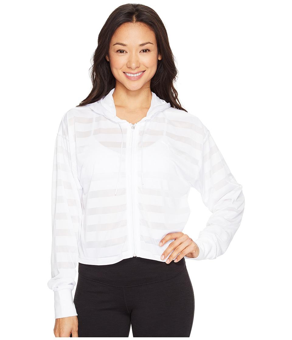 PUMA - Burnout Full Zip Hoodie (PUMA White) Women's Sweatshirt