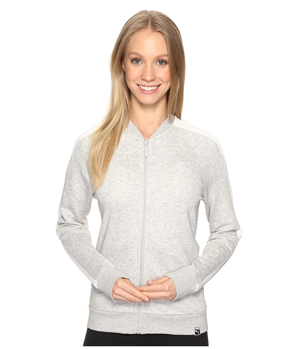 PUMA - Archive Logo T7 Track Jacket (Light Gray Heather) Women's Coat