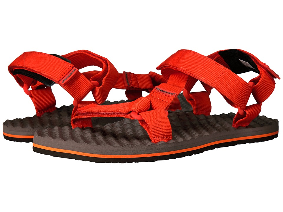 The North Face - Base Camp Switchback Sandal (Falcon Brown/Tibetan Orange) Men's Sandals