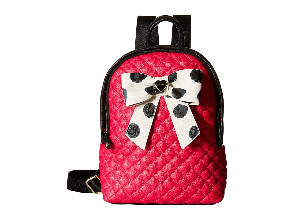 Betsey Johnson - Mini Bownanza Zip Around Backpack (Fuchsia) Backpack Bags