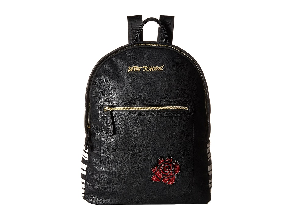Betsey Johnson - Sticker Backpack (Black) Backpack Bags