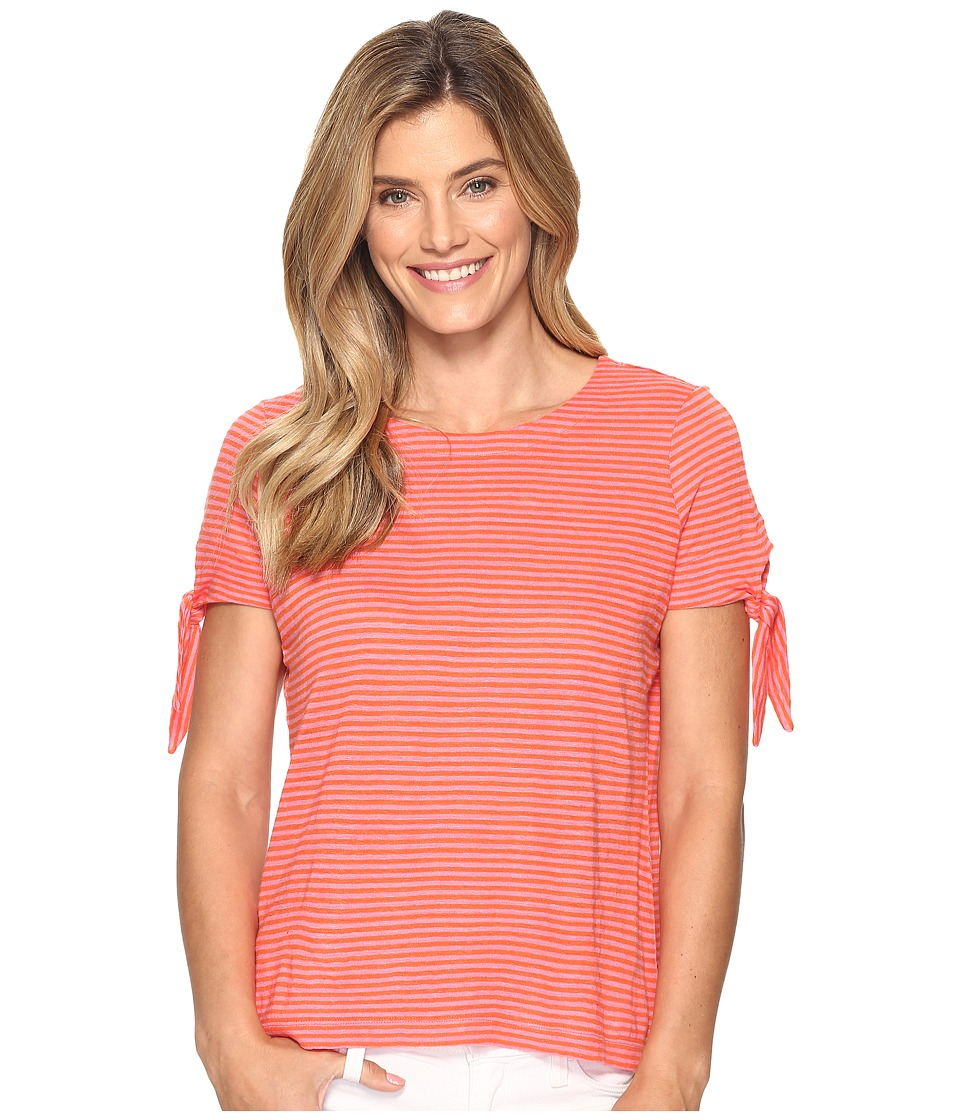 Tommy Bahama - Linnea Belo Stripe Tee (Citrus Punch) Women's T Shirt