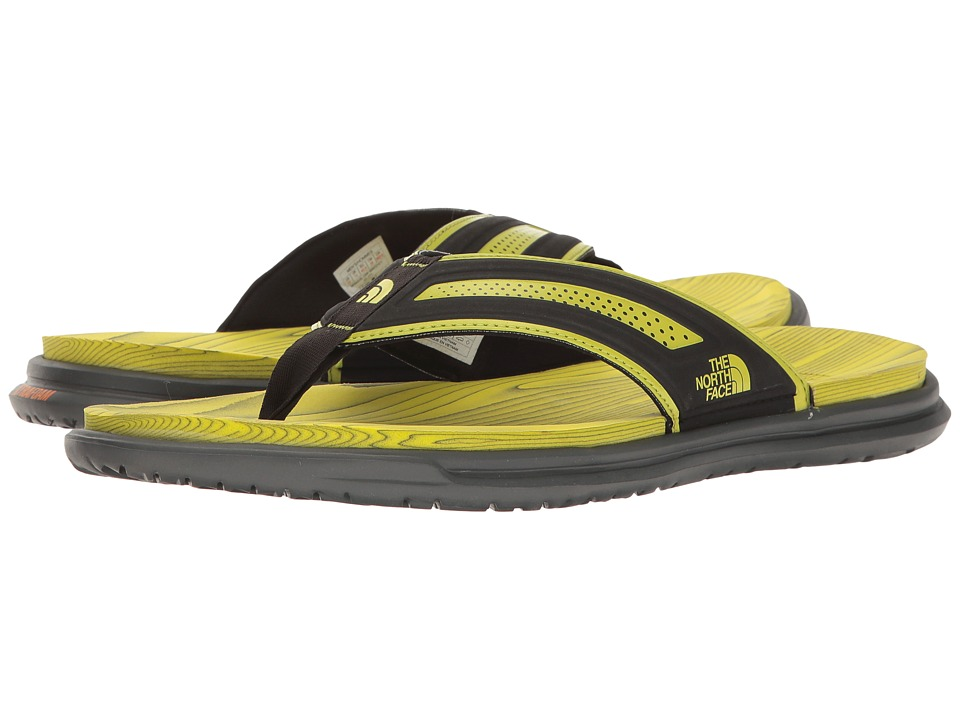 The North Face - Base Camp XtraFoam Flip Flop (TNF Black/Sulphur Spring Green (Prior Season)) Men's Sandals