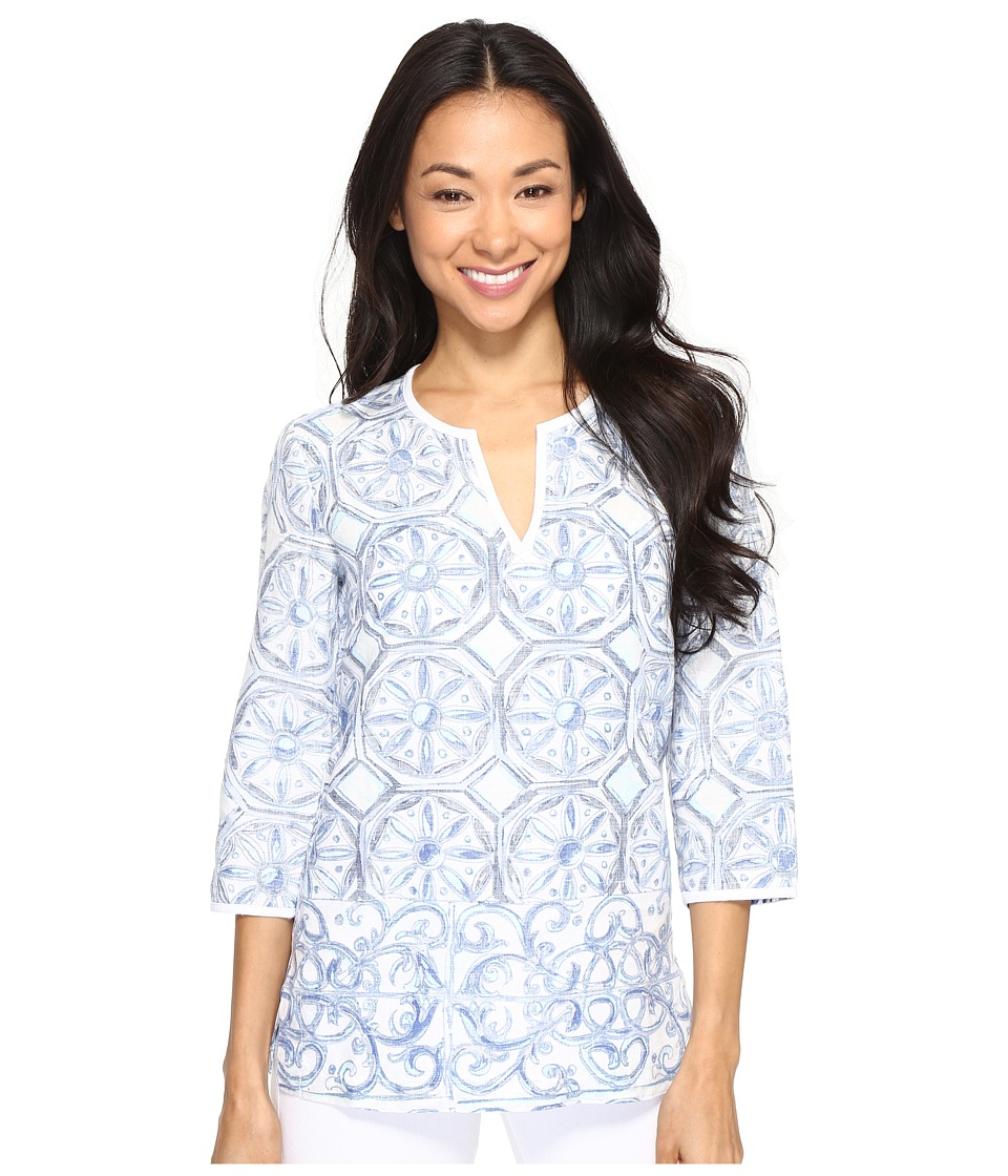 Tommy Bahama - Watercolor Tiles Tunic (Bering Blue) Women's Clothing