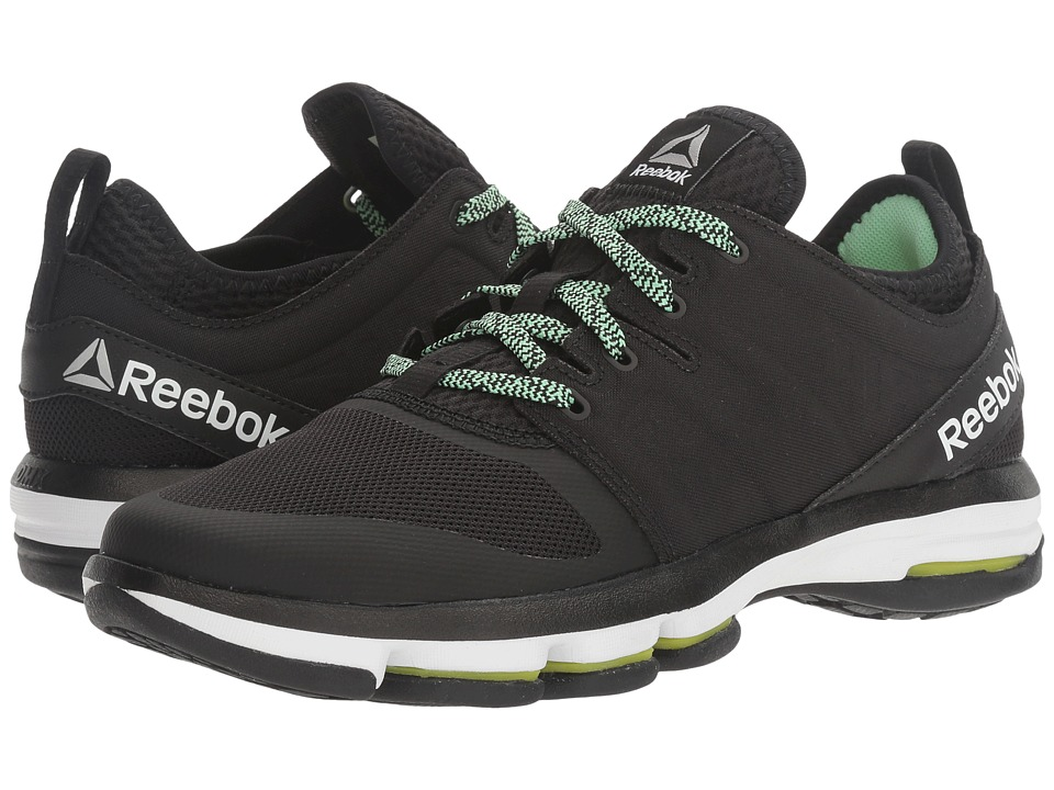 Reebok - Cloudride DMX (Black/Mint Green/White) Women's Walking Shoes