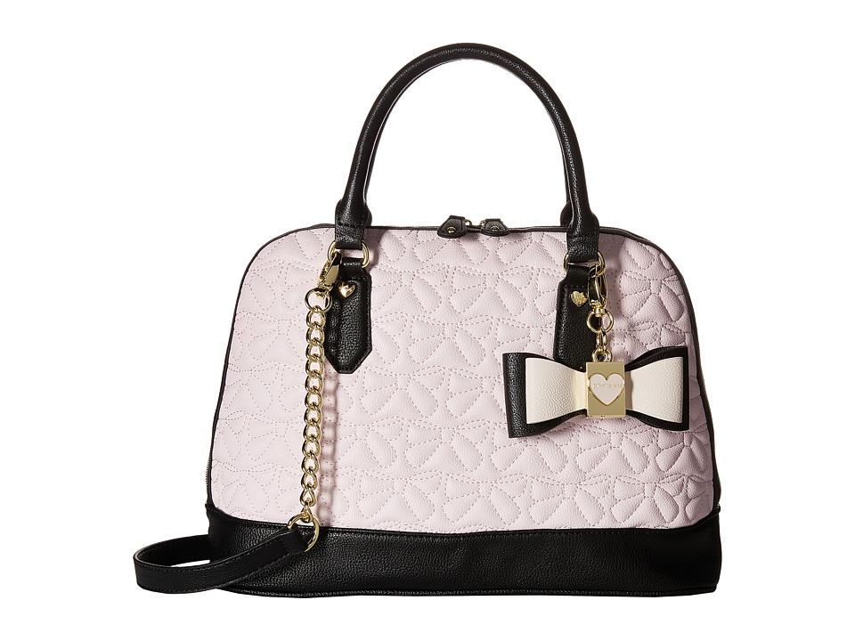 Betsey Johnson - Medium North/South Bowler (Blush) Satchel Handbags